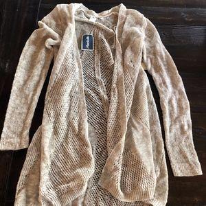 Grey-Sand Long sleeve cardigan